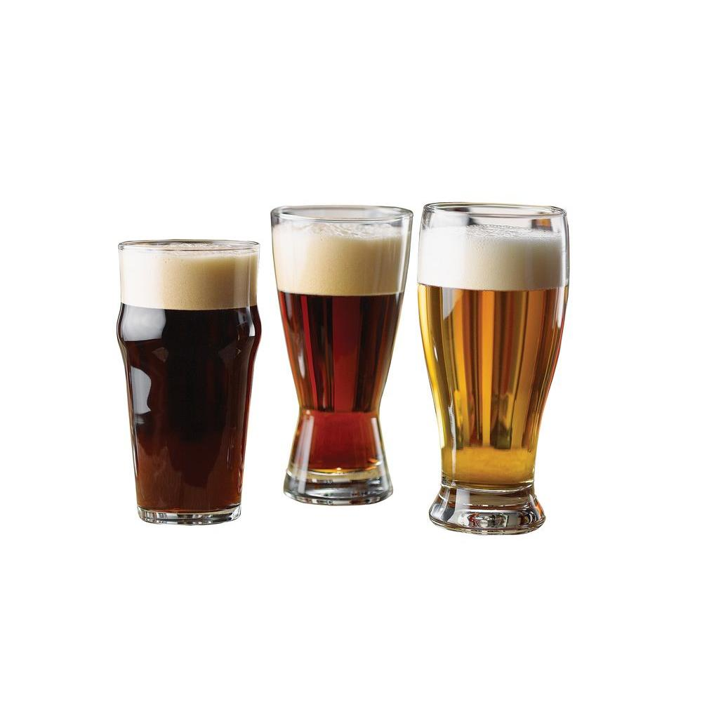 Libbey 12-Piece International Beer Glass Set in Clear