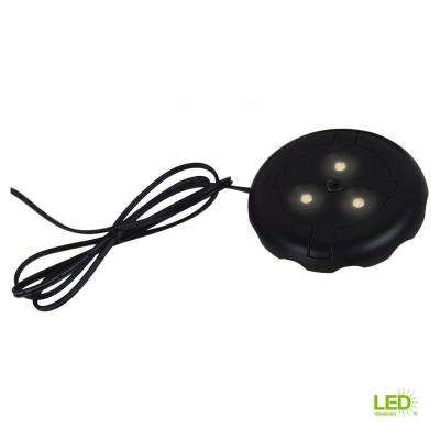 3 in. LED 12-Volt 3000K Black Under Cabinet Puck Light