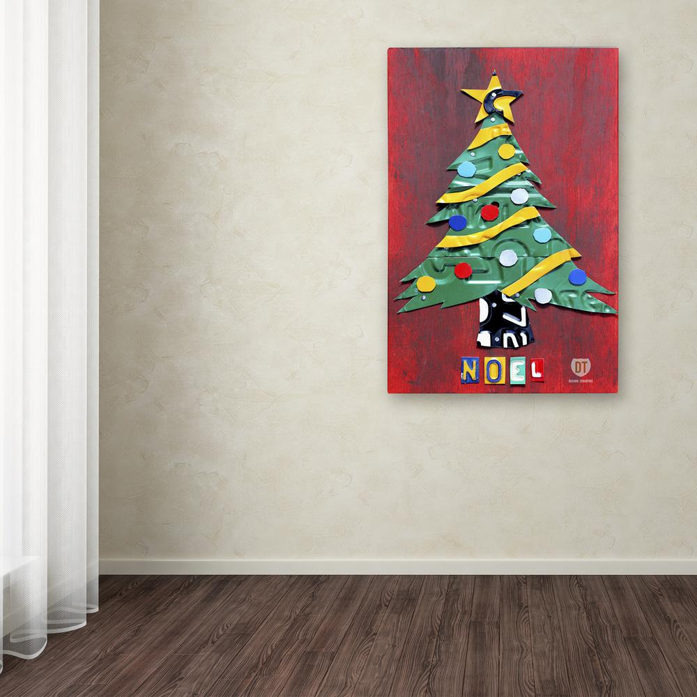 24 In X 16 In Noel Christmas Tree By Design Turnpike Printed Canvas Wall Art