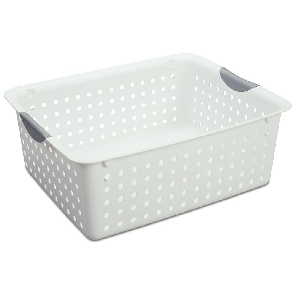 Sterilite 12.88 in. x 6 in. Plastic Large Ultra Storage Basket