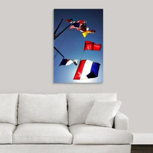 Global GalleryAvery Tillmon British Flag Sailboat Giclee Stretched Prints 20 x 24