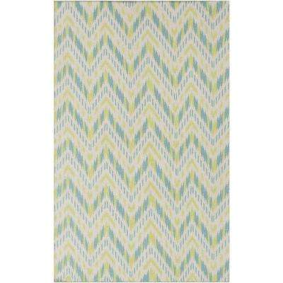 Front Porch Lime 5 ft. x 8 ft. Indoor Area Rug