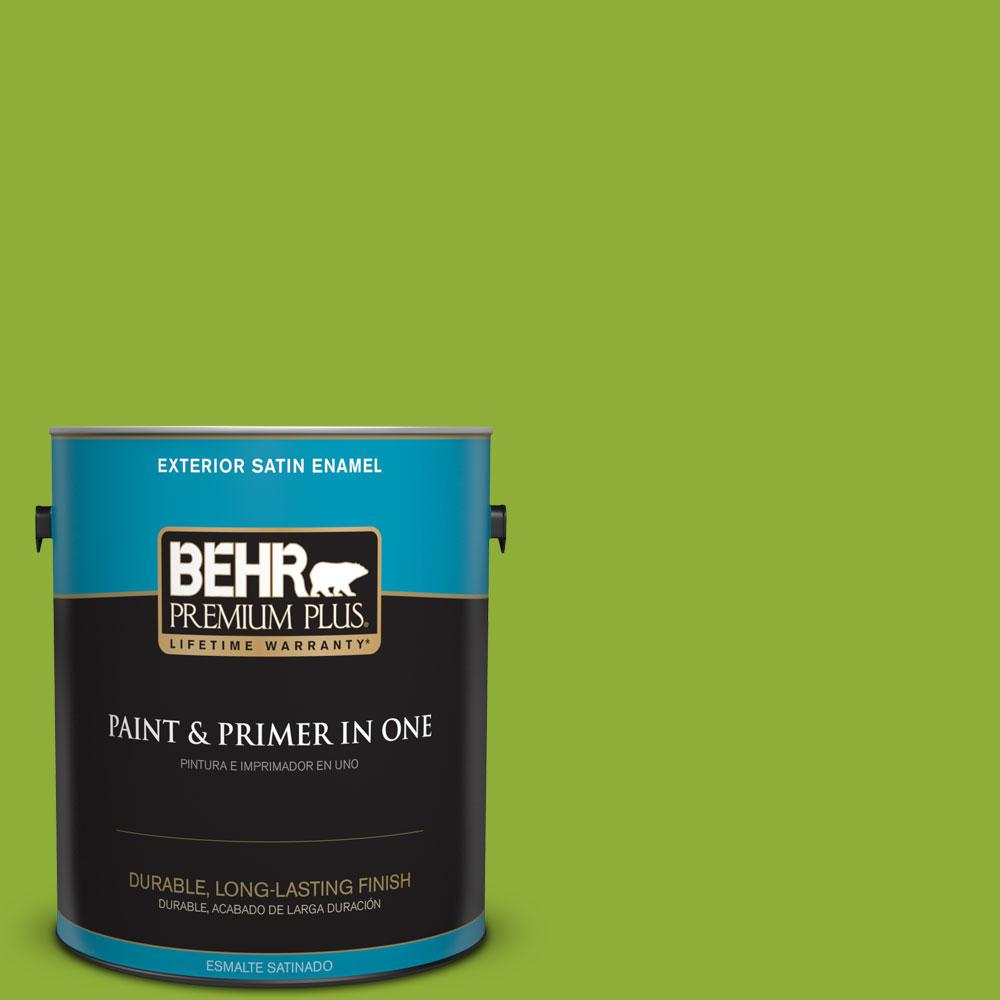 1-gal. #420B-6 New Green Satin Enamel Exterior Paint