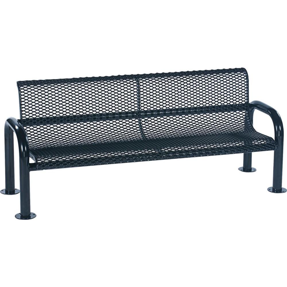 Harmony 6 ft. Blue Commercial Bench