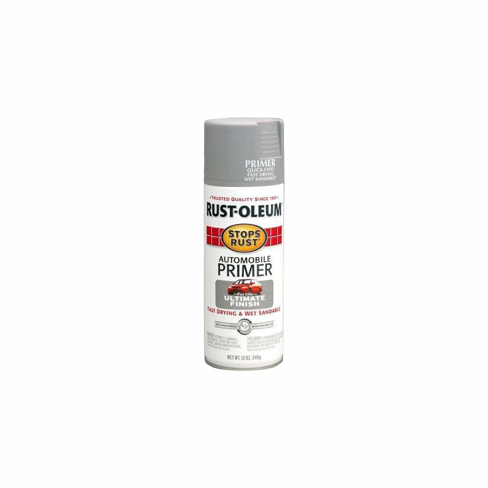Rust-Oleum Stops Rust 12 oz  Flat Light Gray Automotive Primer Spray  (6-Pack)