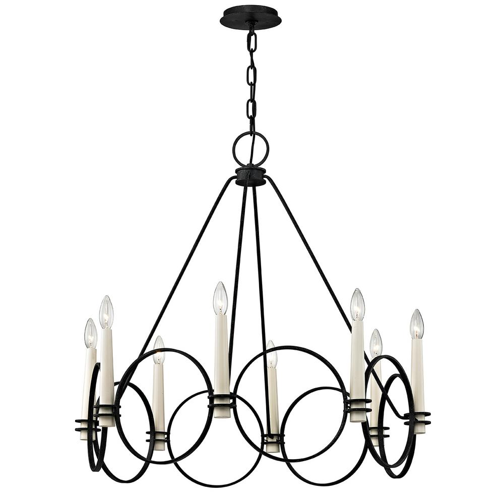 Troy Lighting Juliette 8-Light Country Iron Chandelier-F5958 - The ...