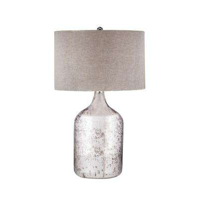 32 in. Tapered Mercury Glass Jug Lamp
