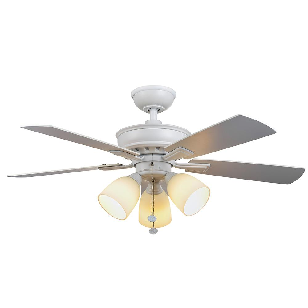 Led Matte White Ceiling Fan
