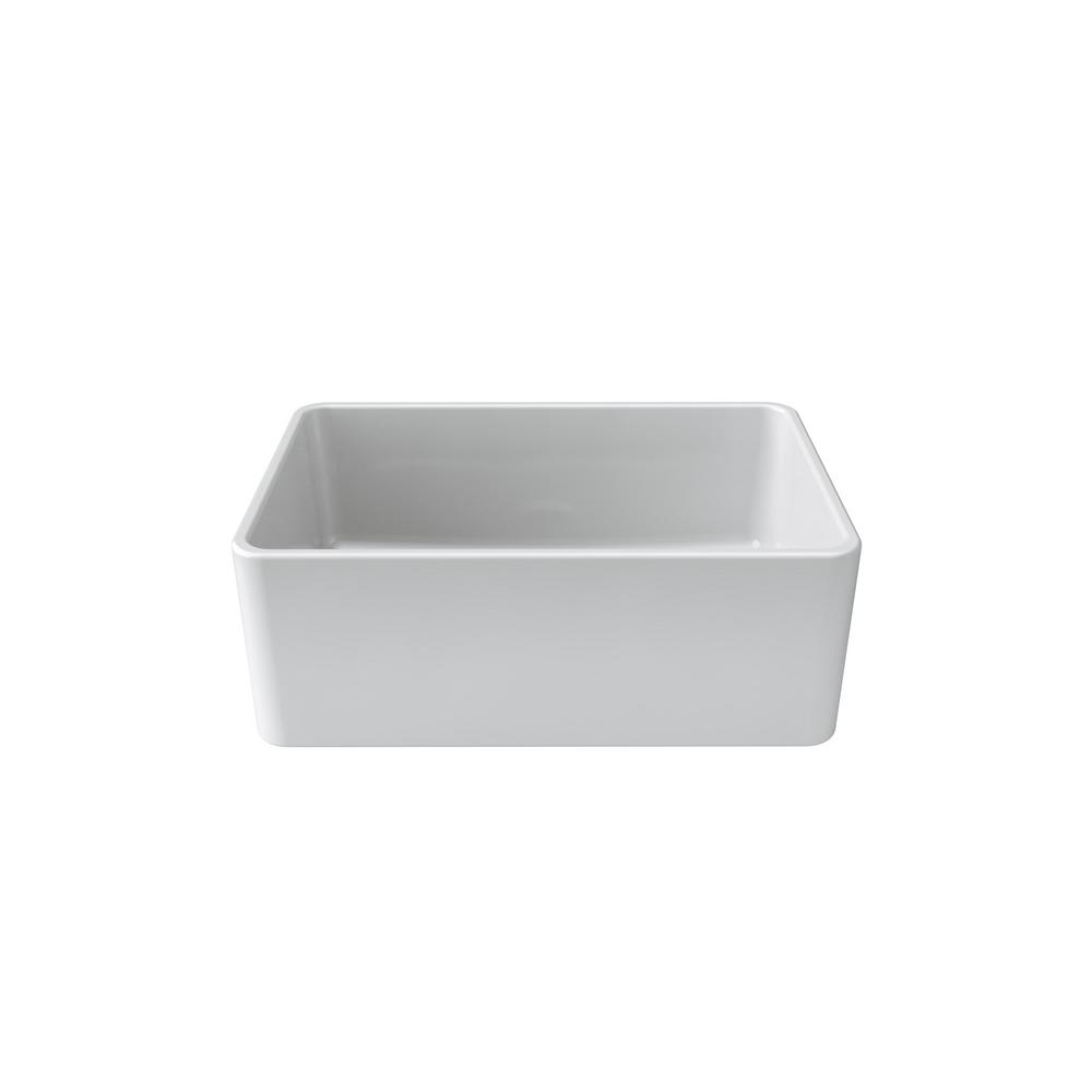 LaToscana La Toscana Farmhouse Apron-Front Fireclay 27 in. Single Basin Kitchen Sink in White