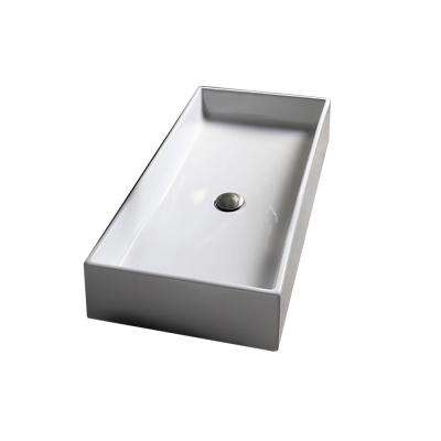 Teorema Vessel Bathroom Sink in White