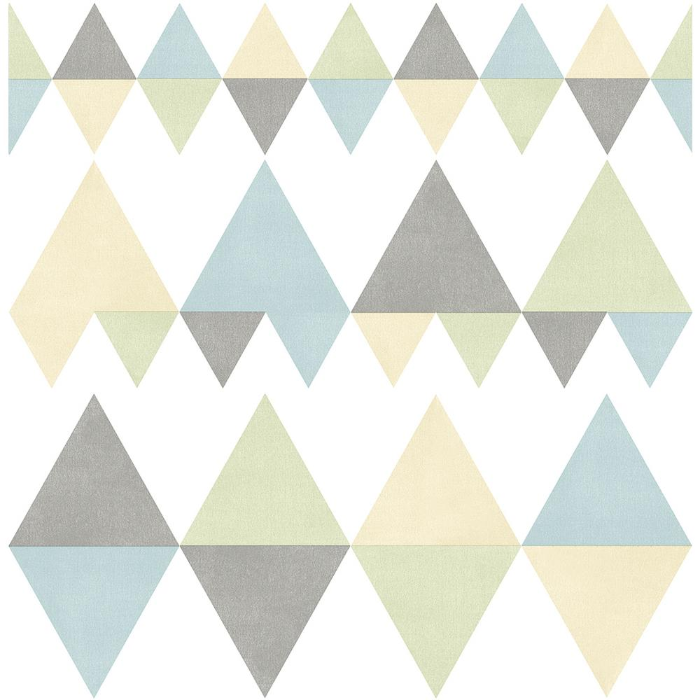 A Street 8 In X 10 In Trilogy Multicolor Geometric Wallpaper