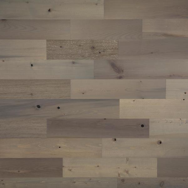 1/8 in. x 5 in. x 12-42 in. Peel and Stick Gray Wooden Decorative Wall Paneling (40 sq. ft./Box)
