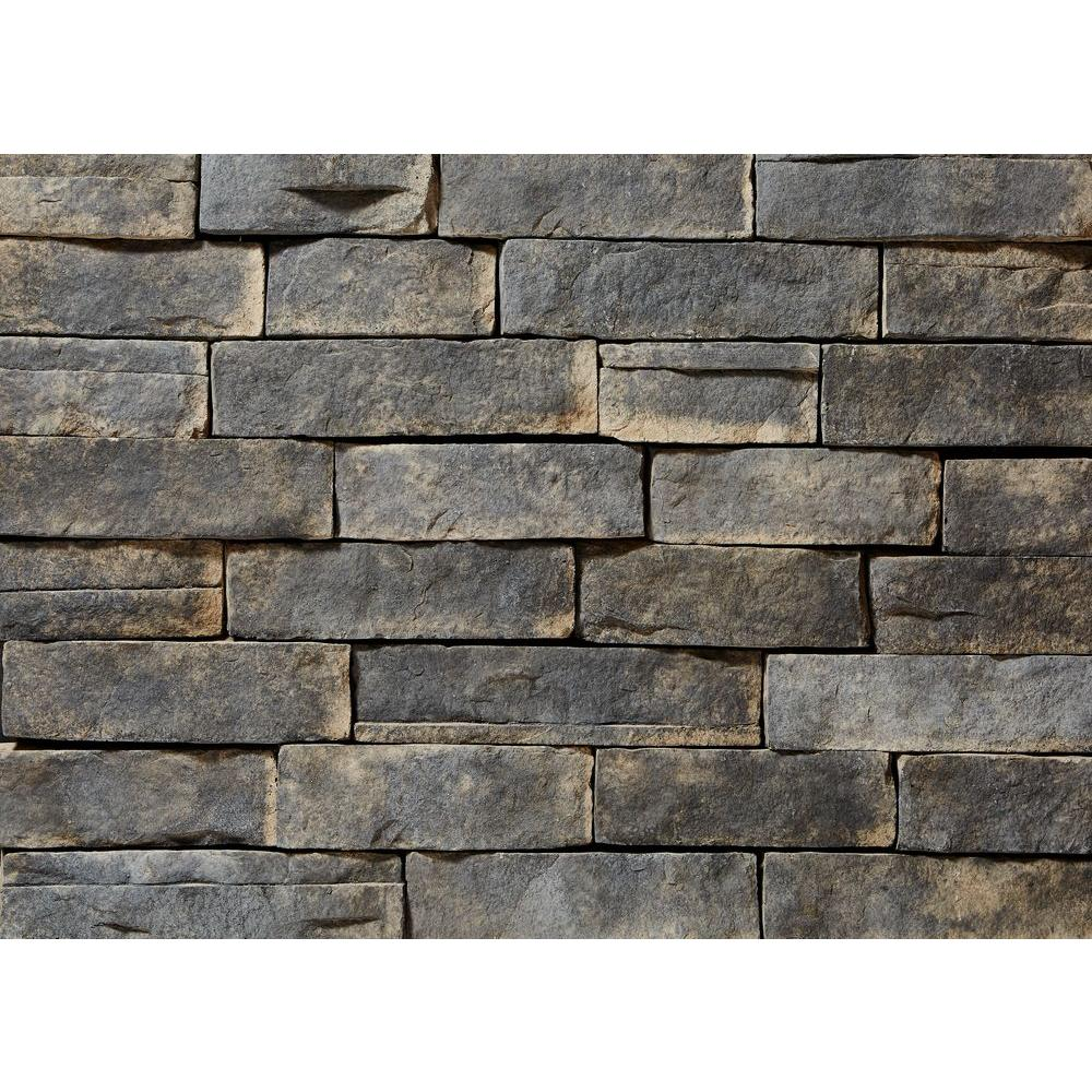 Clipstone ledgestone ash flats 26 3 4 in x 16 in 8 sq for Manufactured brick veneer