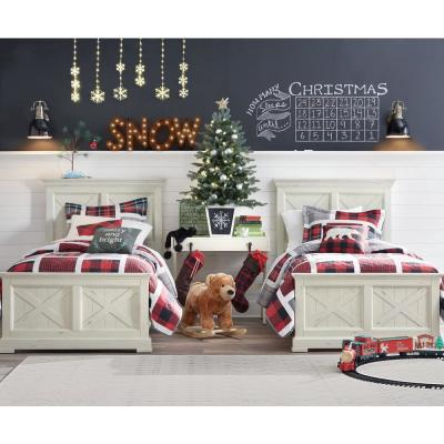 Buffalo Plaid Red and Black Twin Quilt Set with BONUS Decorative Pillow