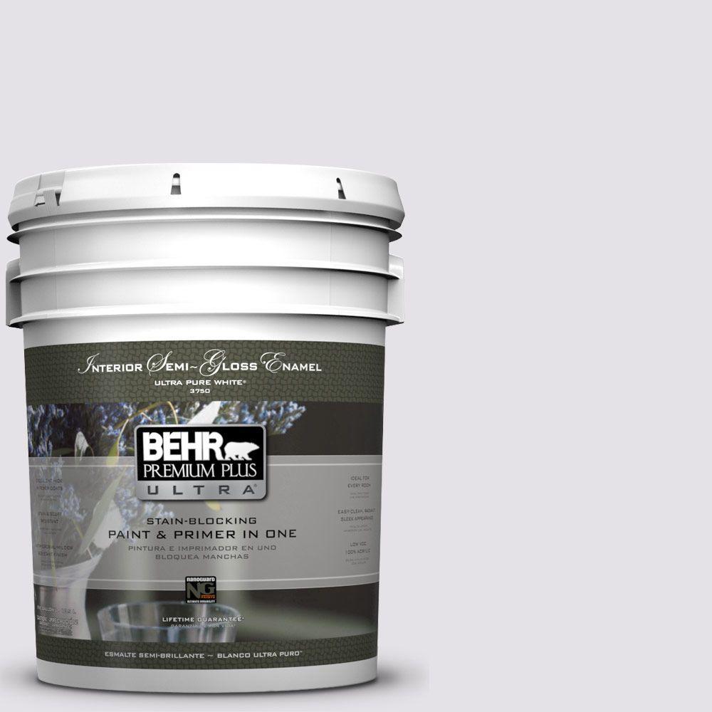 BEHR Premium Plus Ultra 5-gal. #PR-W2 Early Crocus Semi-Gloss Enamel Interior Paint