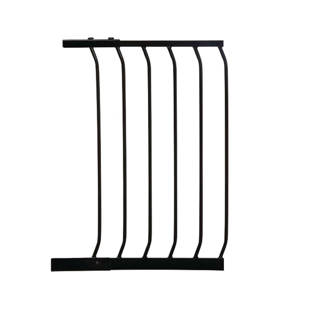 17.5 in. Gate Extension for Black Chelsea Standard Height Child Safety