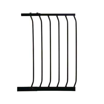 17.5 in. Gate Extension for Black Chelsea Standard Height Child Safety Gate