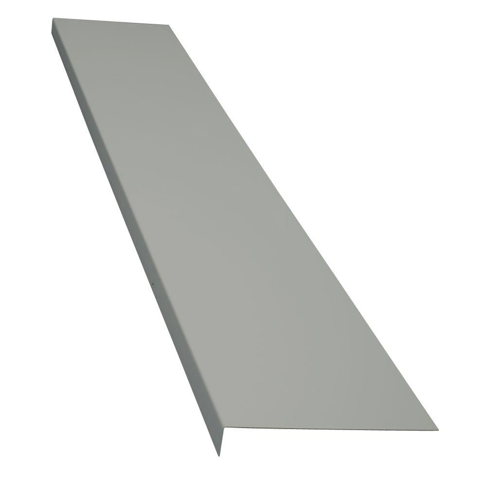 Classic Series 11 in. x 72 in. Light Gray Powder Coat