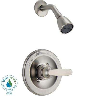 Foundations 1-Handle Shower Only Faucet Trim Kit in Stainless (Valve Not Included)