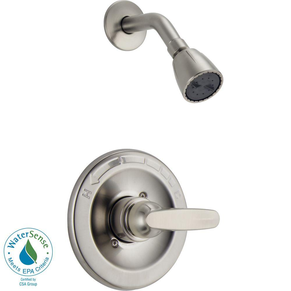Delta Foundations 1-Handle Shower Only Faucet Trim Kit in Stainless (Valve Not Included)
