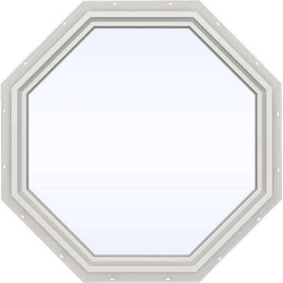 35.5 in. x 35.5 in. V-4500 Series Fixed Octagon Geometric Vinyl Window in White