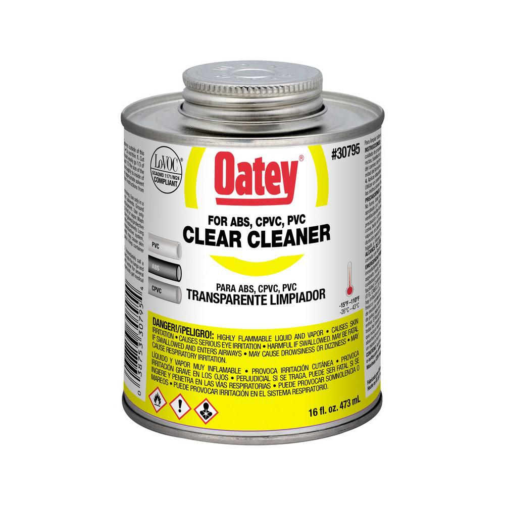 Oatey 16 oz. PVC Clear Cleaner