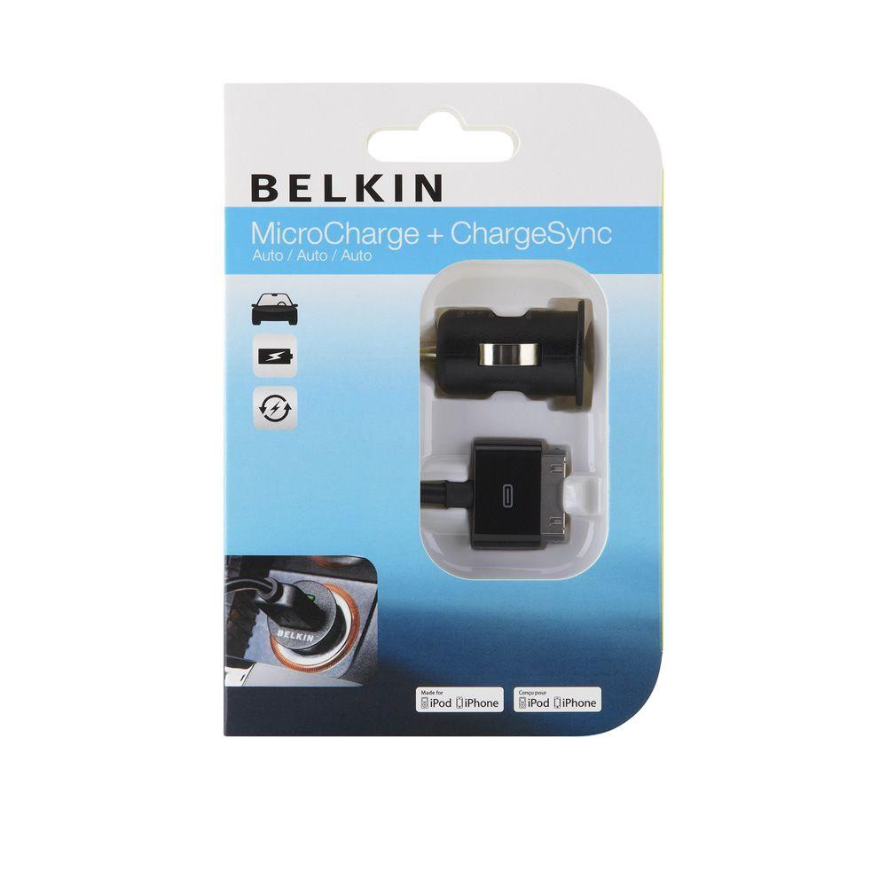 Belkin 1 Amp W/ 3 ft. ChargeSync cable iPhone Micro Car Charger