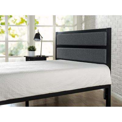 Viola Modern Studio Upholstered Metal Headboard, Queen