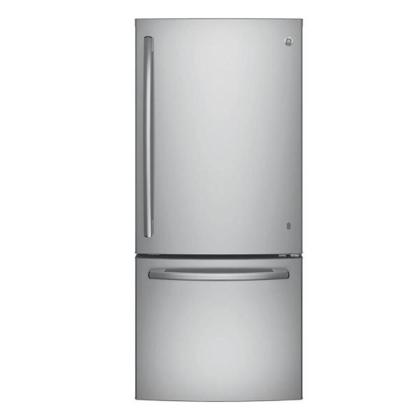 GE 21 cu. ft. Bottom Freezer Refrigerator in Stainless Steel, ENERGY STAR