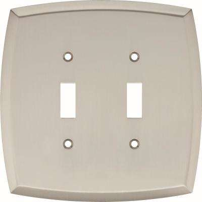 2-Gang Amherst Decorative Double Switch, Satin Nickel
