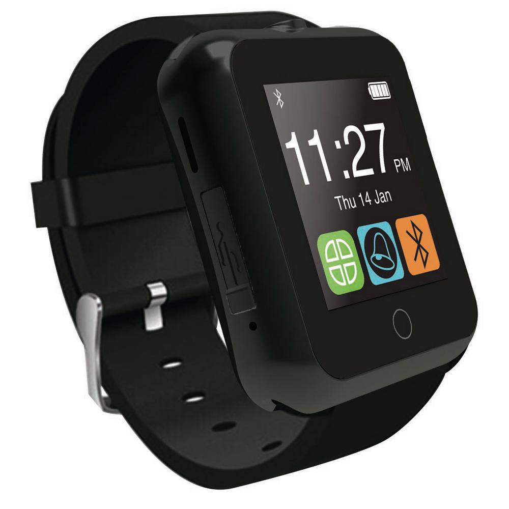 Bluetooth Smart Watch with Camera Black