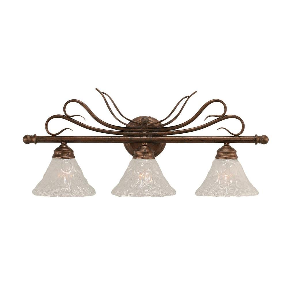 Filament Design Concord 3-Light Bronze Incandescent Wall Vanity Light
