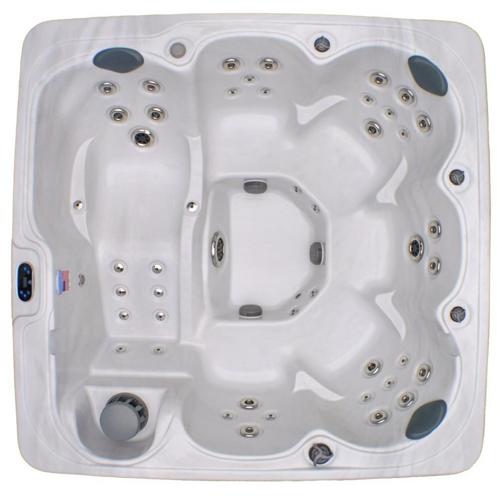 Home And Garden Spas Home And Garden 6 Person 71 Jet Spa With Stainless  Jets And Ozone Included LPI81LA   The Home Depot