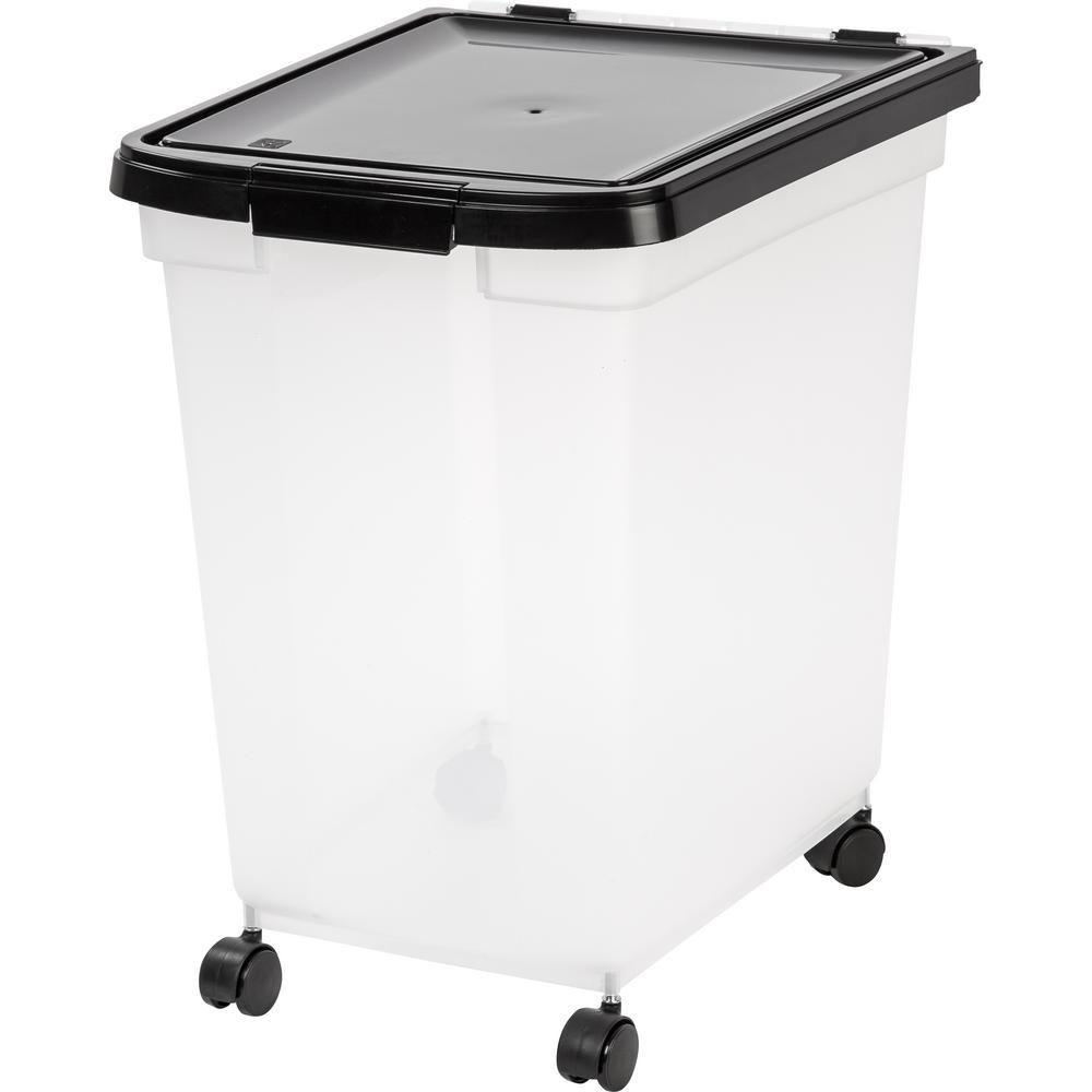 65 Qt. Airtight Pet Food Storage Bin in Clear