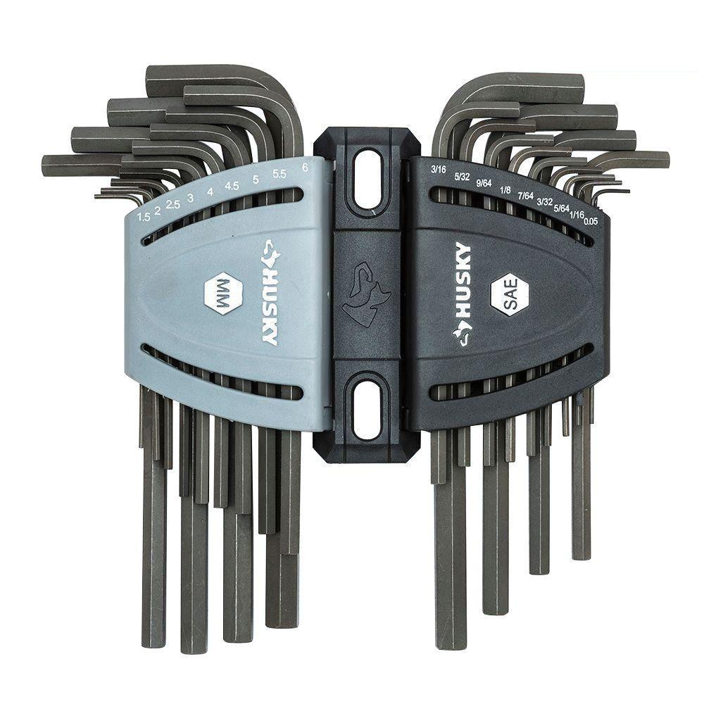 Hex Key Set 9 Piece Wrench Ball-End Hex Key Set Long Arm Metric 1.5-10mm Hex L-Key for Home Use and DIY