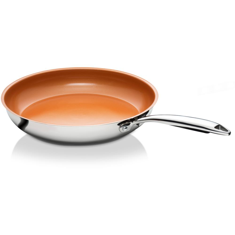 11 in. Stainless Steel Non-Stick Ti-Cerama Frying Pan