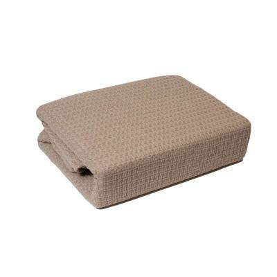Marquis Taupe 100% Cotton Twin Blanket