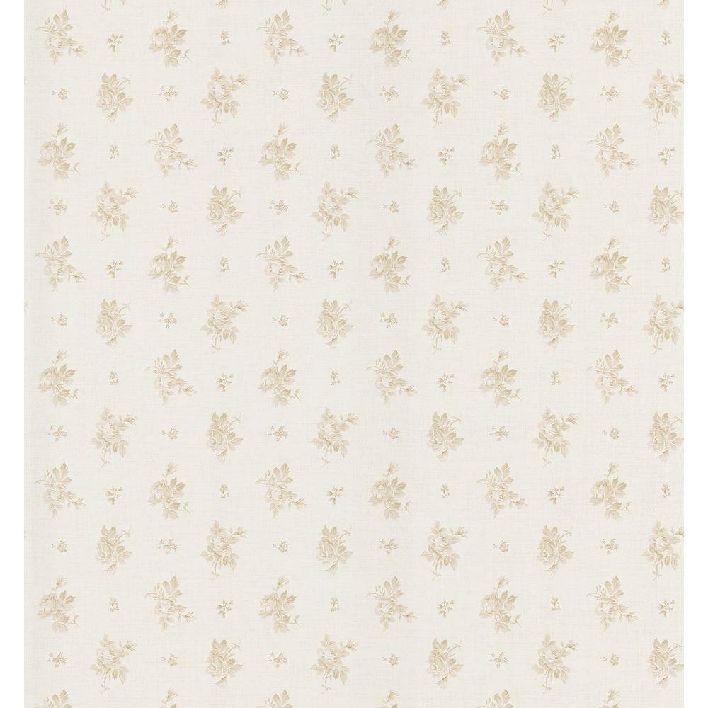 Brewster 56 sq. ft. Rosebud Linen Wallpaper