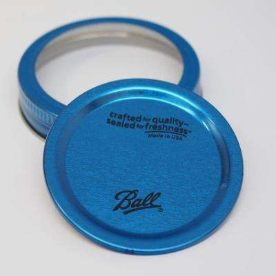 Collection Elite Blue Regular Mouth Lids and Bands (Pack of 6)