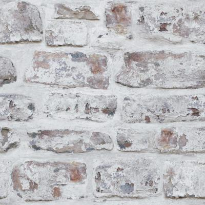White Washed Wall Peel and Stick Non-Woven Wallpaper