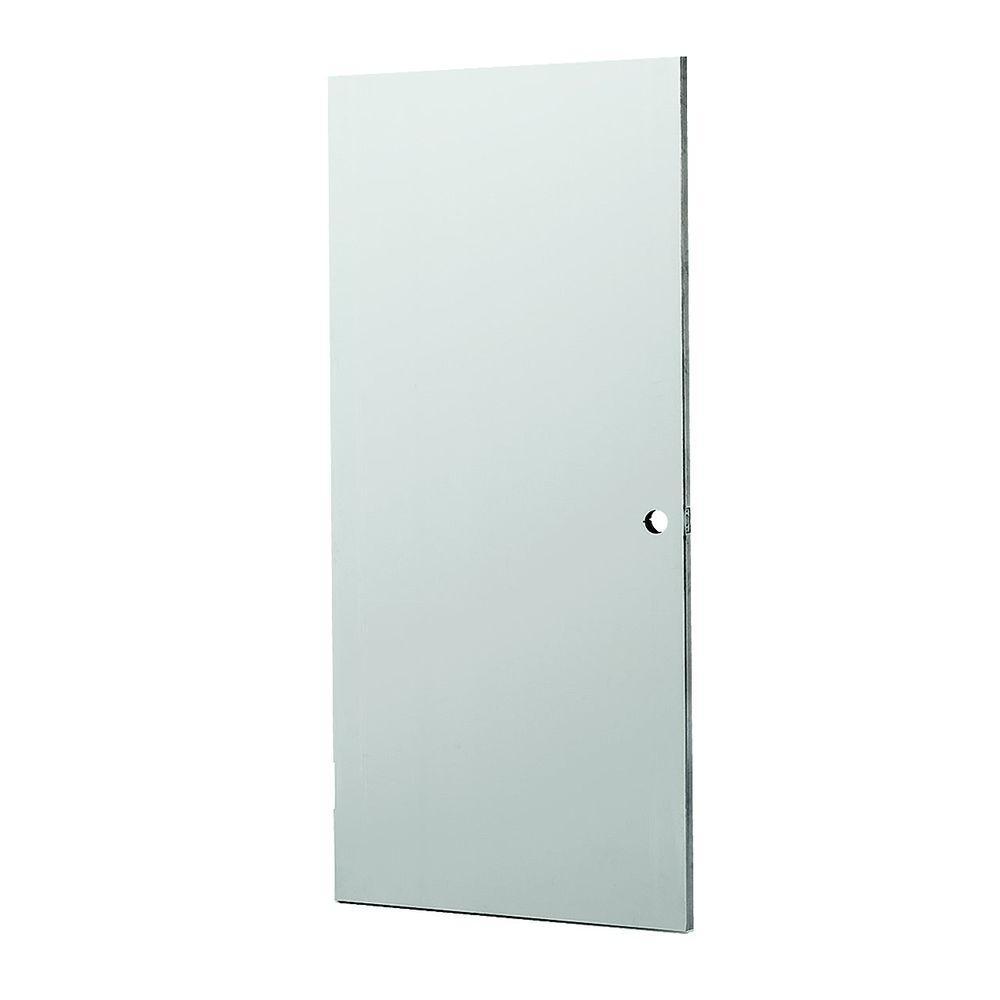 null 36 in. x 80 in. Gray Fire Primed Steel Commercial Door Slab