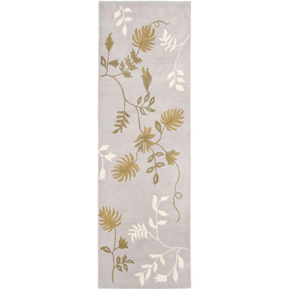 Safavieh Soho Light Grey 2 ft. 6 in. x 8 ft. Rug Runner