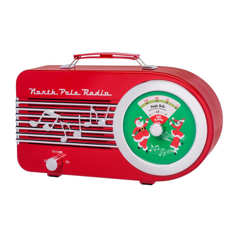 11 in. Christmas Santa's Radio