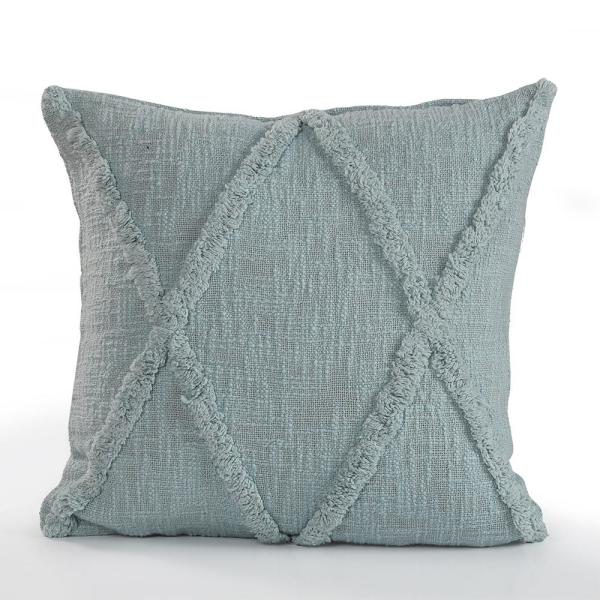 Criss Coss Gray Geometric Hypoallergenic Polyester 18 in. x 18 in. Throw Pillow