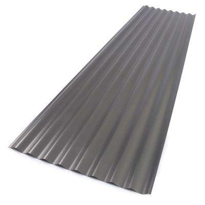 26 in. x 12 ft. Foamed Polycarbonate Corrugated Roof Panel in Castle Grey