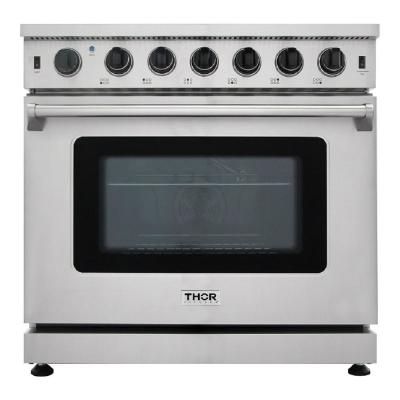 Pre-Converted Propane 36 in. 6.0 cu. Ft Single Oven Professional Gas Range in Stainless Steel with 6-Burners