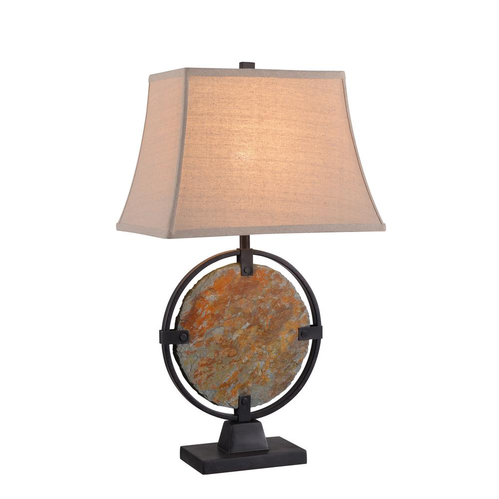 Kenroy Home Suspension 28 in  Natural Slate Table Lamp