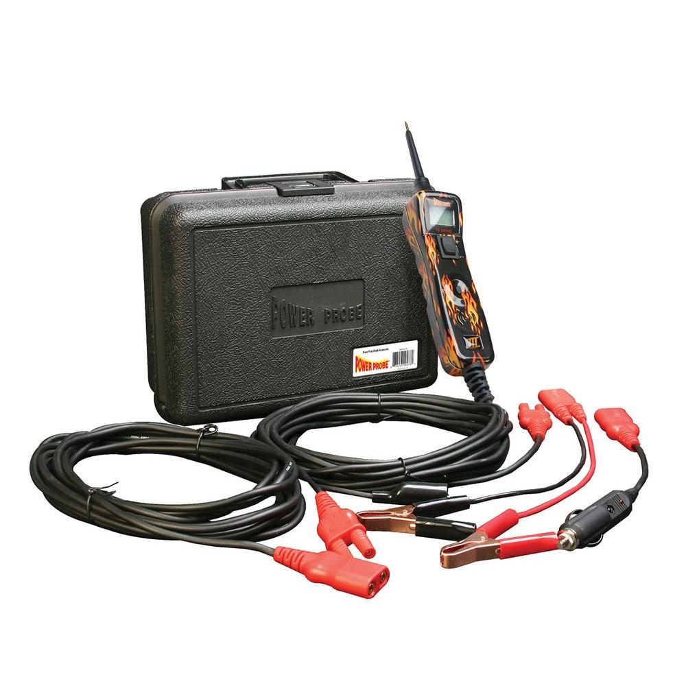 Power Probe Circuit Tester With Case And Accessories Flame Print Snap On