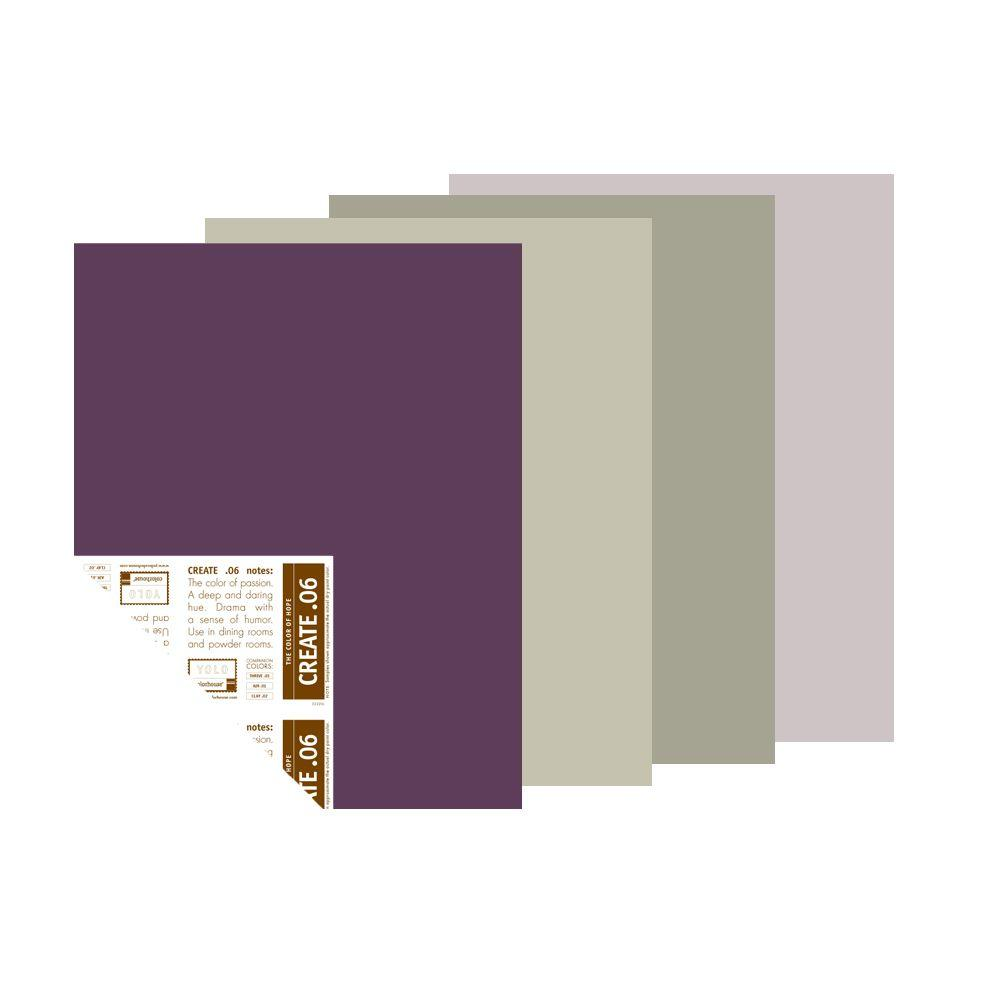 YOLO Colorhouse The Dusk to Dawn Palette 12 in. x 16 in. Pre-Painted Big Chip Sample (4-Pack)-DISCONTINUED