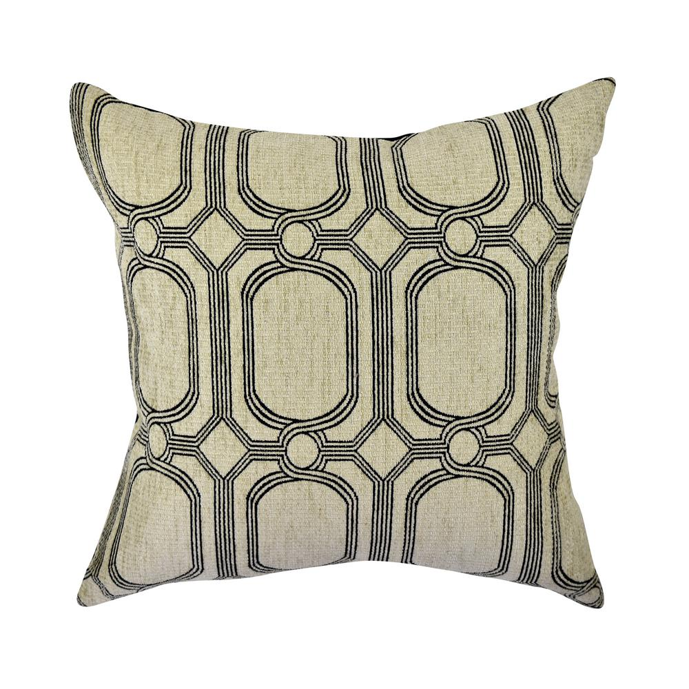 geo design pillow line woven silver throw jacquard products pillows catchy orange